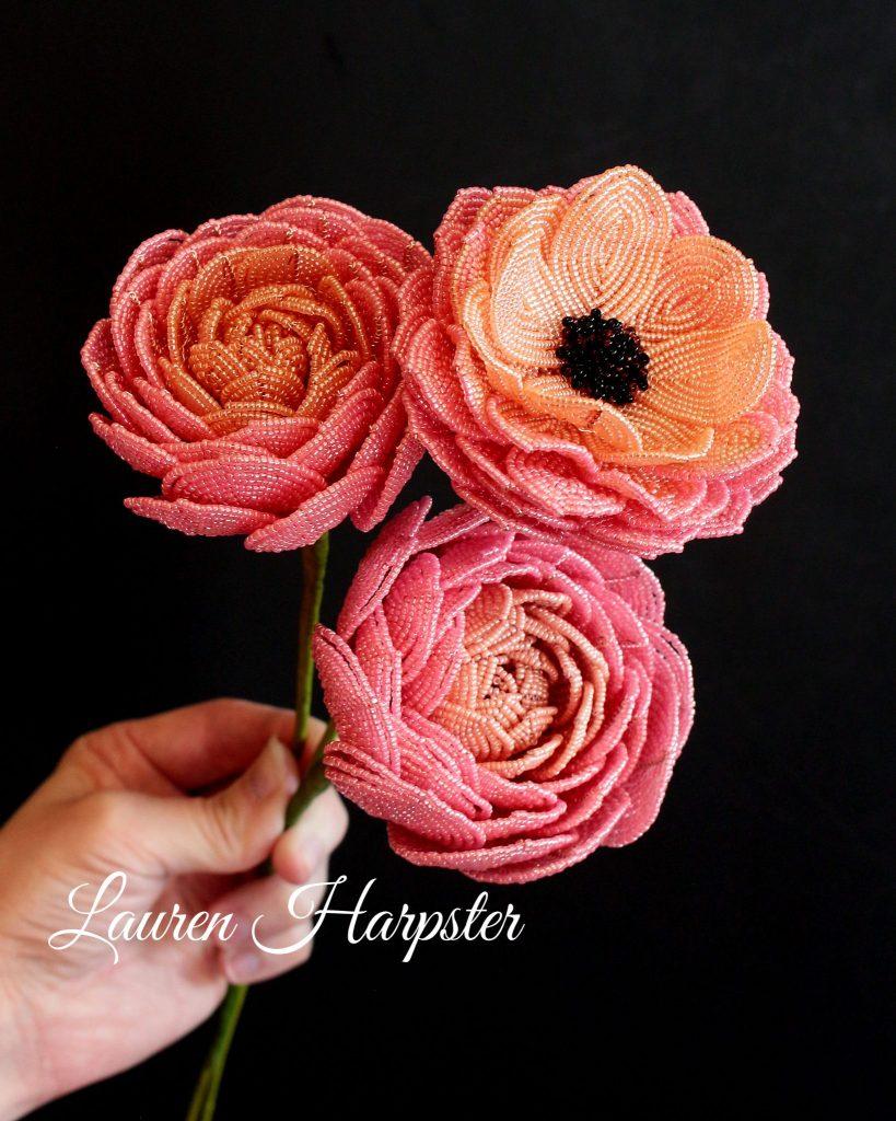 French Beaded Ranunculus by Lauren Harpster
