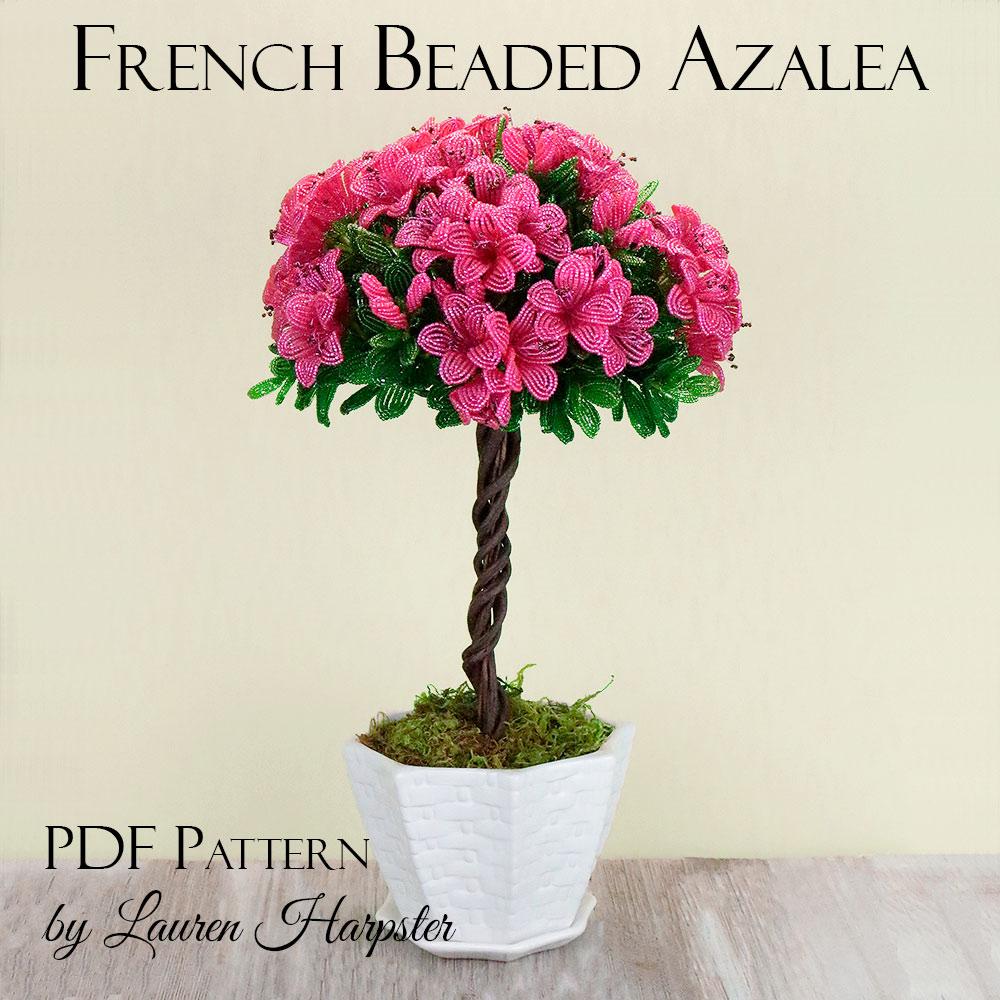 French Beaded Azalea Pattern by Lauren Harpster