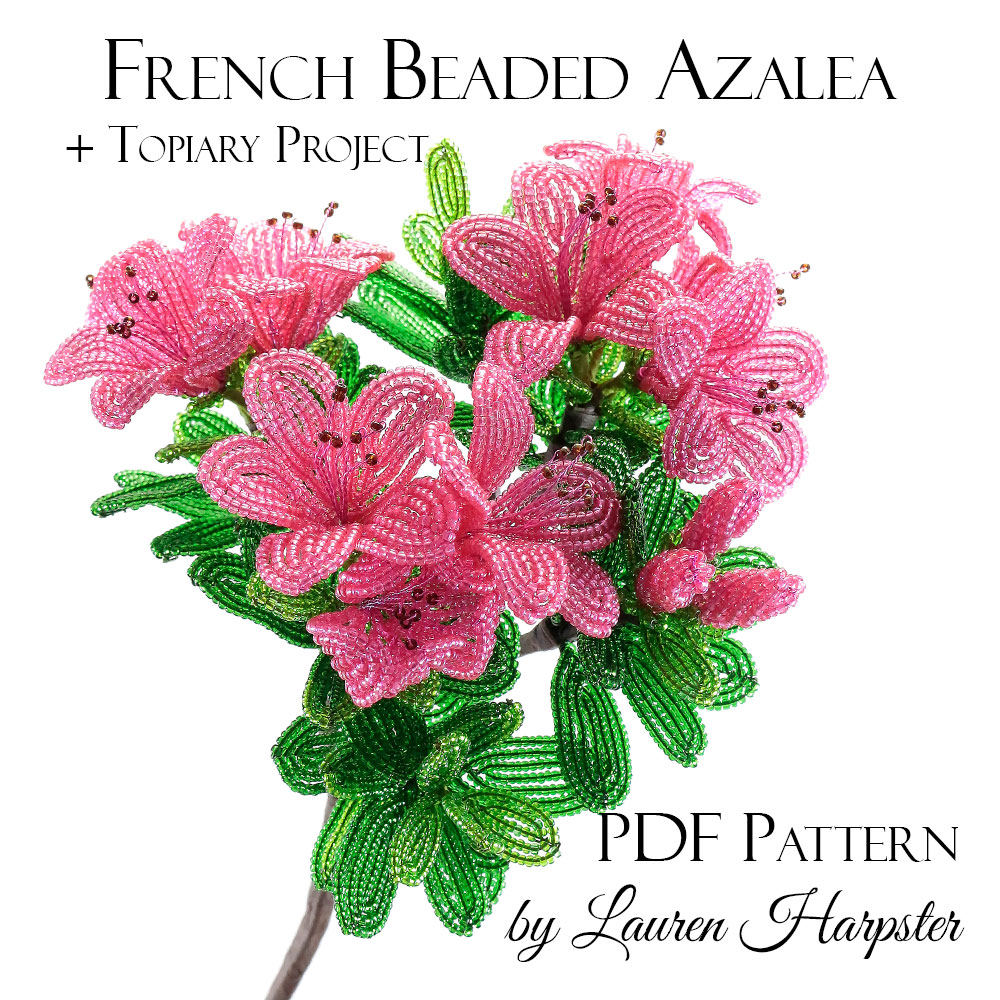 French Beaded Azalea Pattern by Lauren Harpster