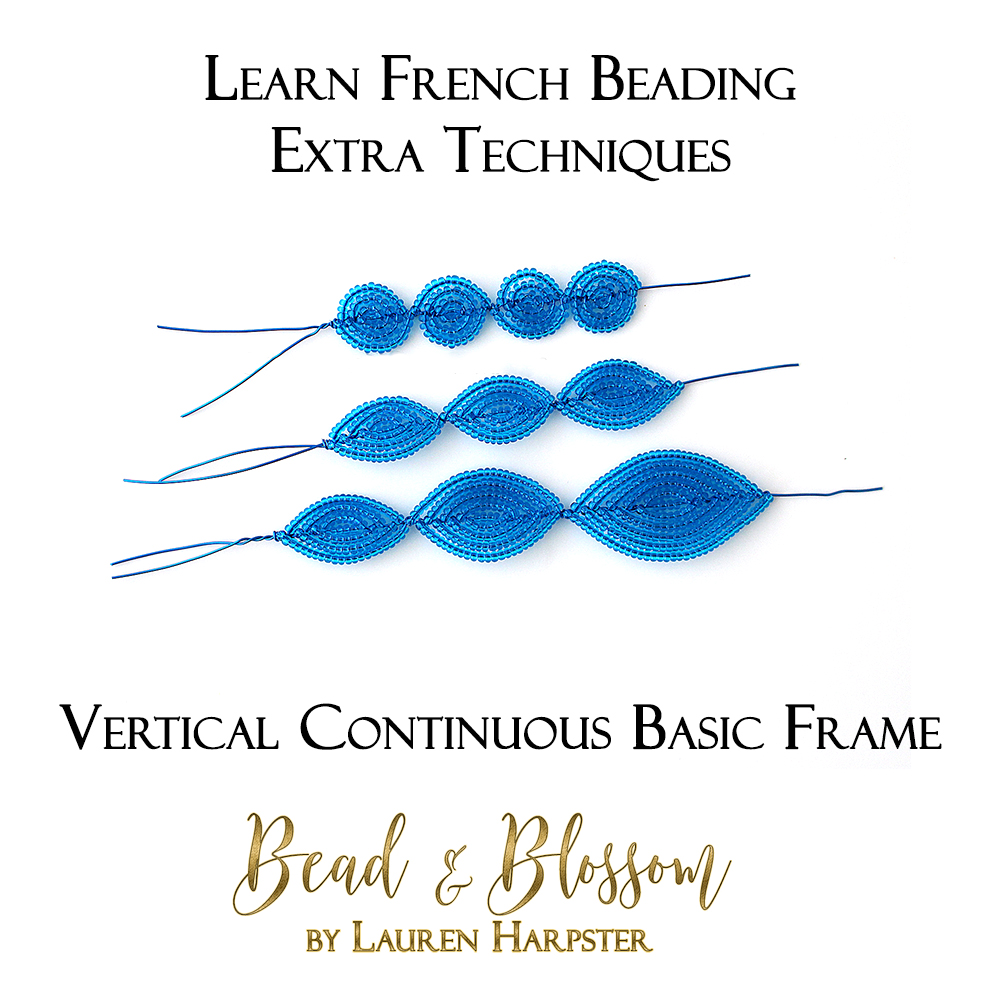 Vertical Continuous Basic Frame technique tutorial by Lauren Harpster