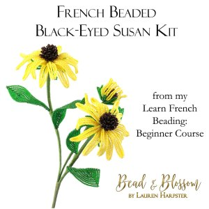 French Beaded Black-Eyed Susan kit from Bead and Blossom