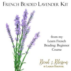 French Beaded Lavender by Lauren Harpster