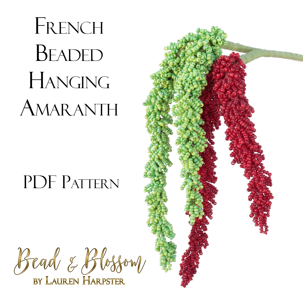 French Beaded Hanging Amaranth