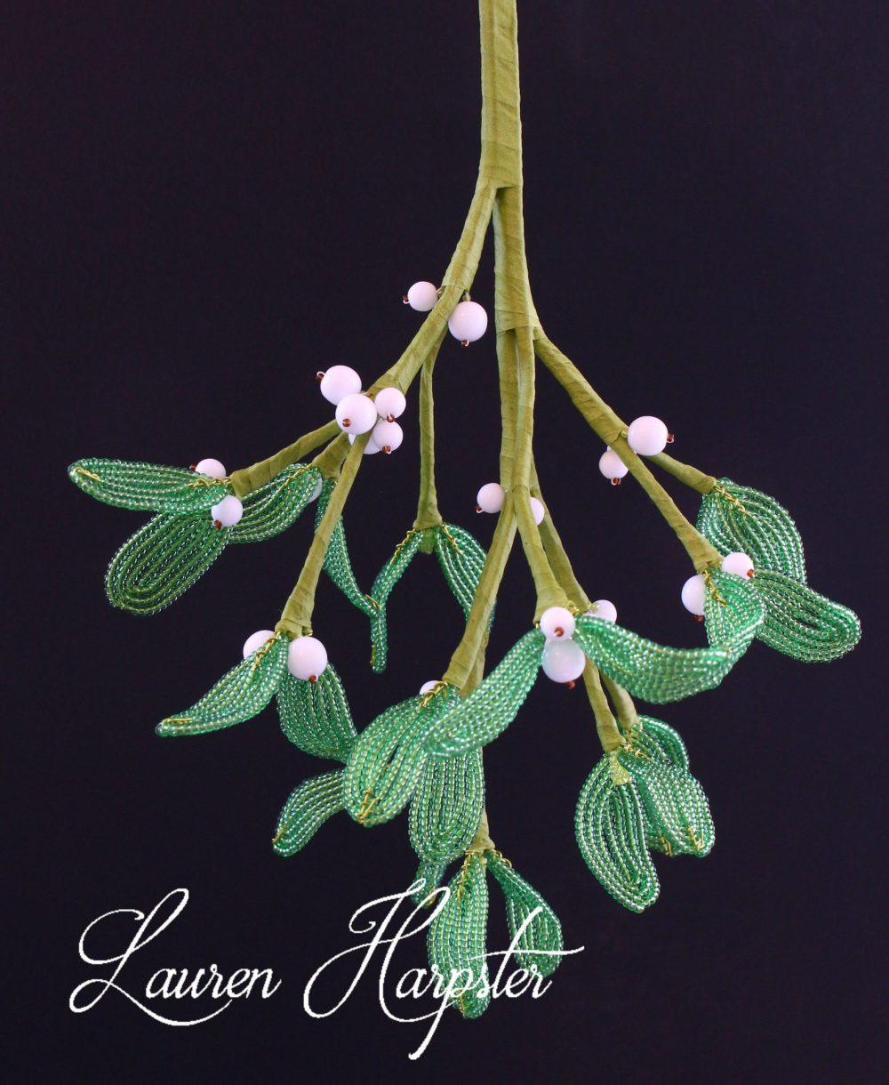 French Beaded Mistletoe by Lauren Harpster