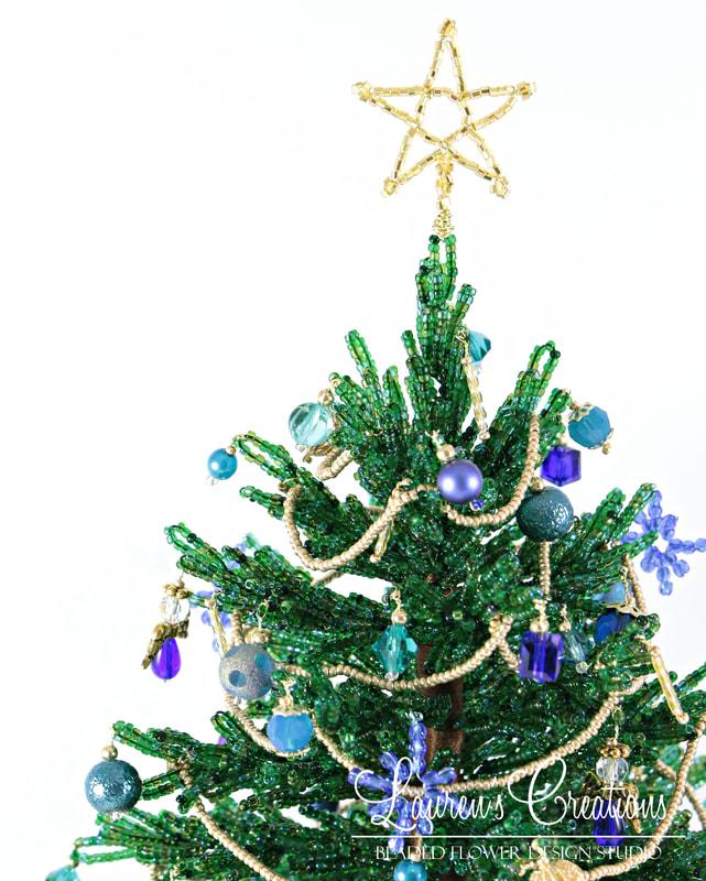 French Beaded Christmas Tree by Lauren Harpster