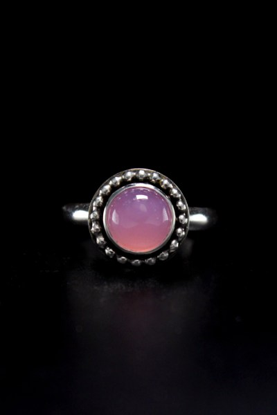 Sterling Silver Pink Calcite Ring