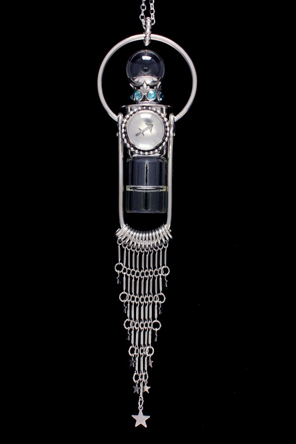 Sagittarius Crystal Ball Necklace