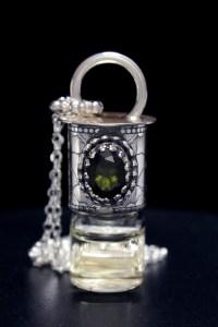 Moldavite Gemstone Mini Rollerball Necklace