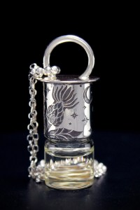 Night Thistle Mini Rollerball Necklace