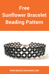 Make the Sunflower Bracelet using this free beading pattern from The Bead Club. The seed bead bracelet is made using Right Angle Weave.