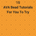 Ava beads are V-shaped Czech beads sold by Potomac Bead Company. Try these fifteen tutorials using this unusual bead shape.