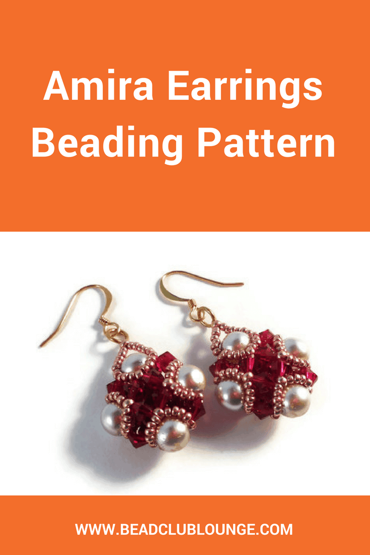 Use a combination of Right Angle Weave and Netting Stitch to make the gorgeous Amira earrings which embody understated elegance.