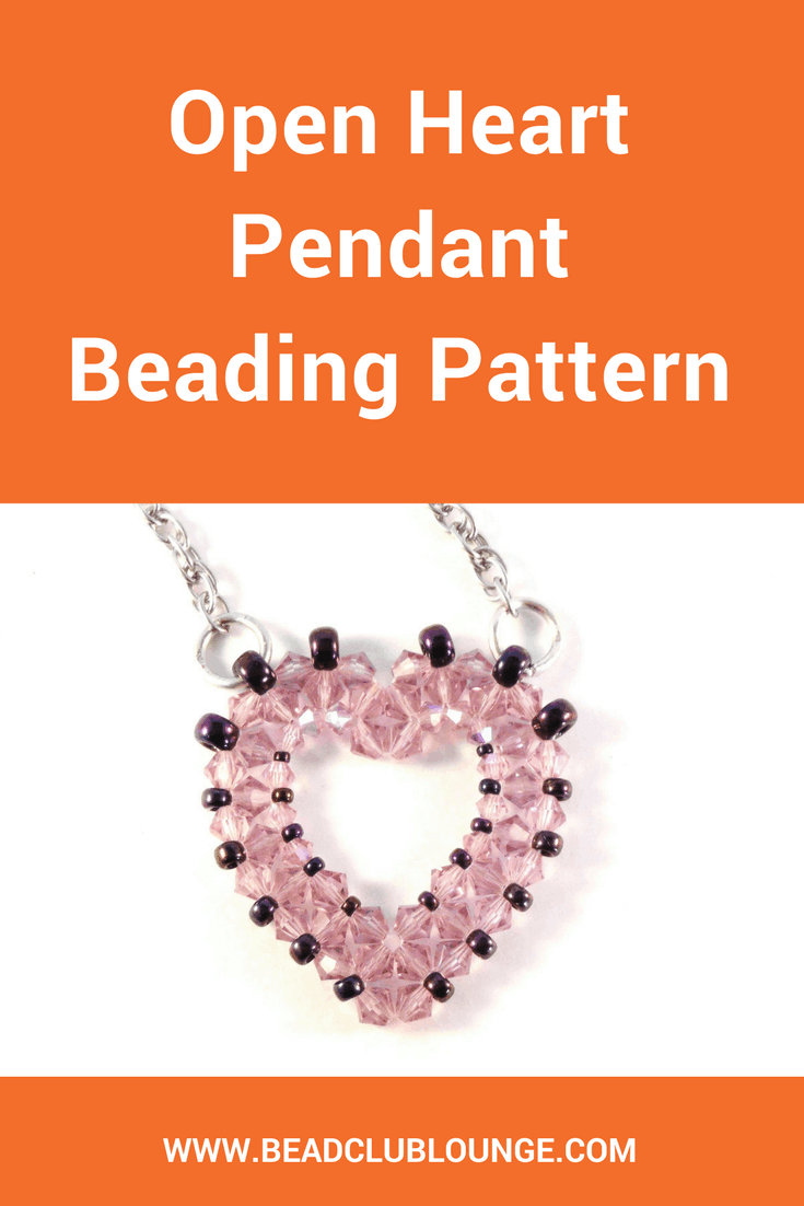 Wear your heart on your sleeve... or on your chest when you make your own beaded heart pendant using the Open Heart Pendant beading pattern.