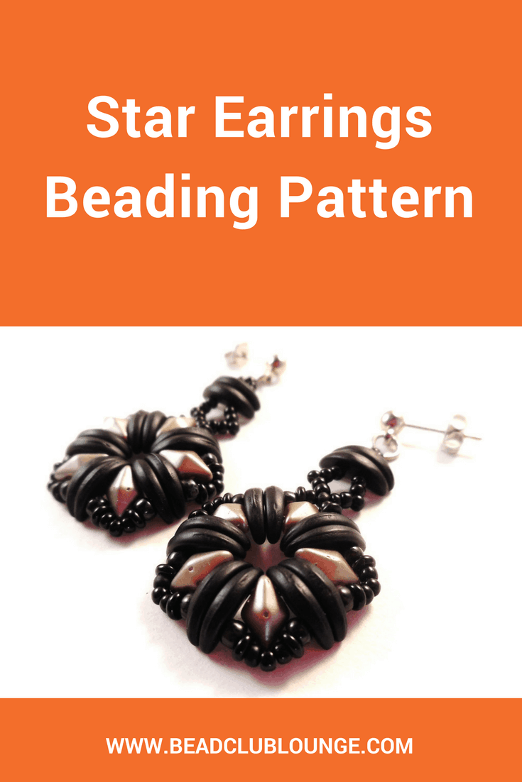 The Star Earrings beading pattern will teach you how to make charming beaded earrings using Crescent beads and DiamonDuo beads.