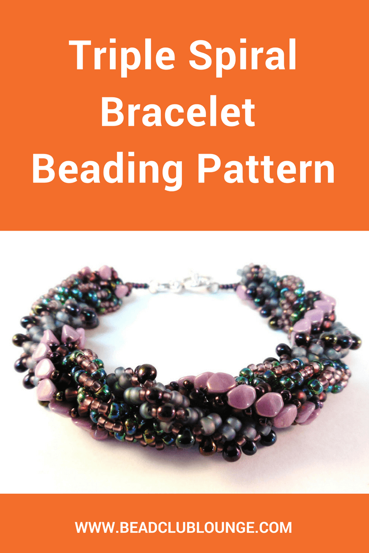 Jazz up any outfit with this incredibly textured Triple Spiral bracelet where three distinct loops of beads swirl around one another.
