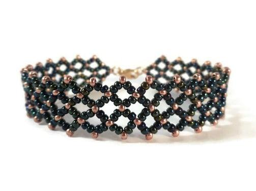 Free Sunflower bracelet pattern- The Bead Club Lounge