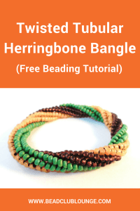 New to Twisted Tubular Herringbone Stitch? Learn this bead-weaving technique using this free bangle beading pattern.