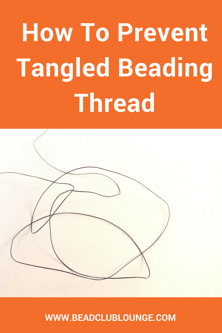 Tangled beading thread really sucks the fun out of making jewelry, doesn't it? Here's a list of simple tips for how you can prevent knots in your thread when creating DIY beading projects plus a YouTube video. #beading #jewelrymaking #beadwork #craft