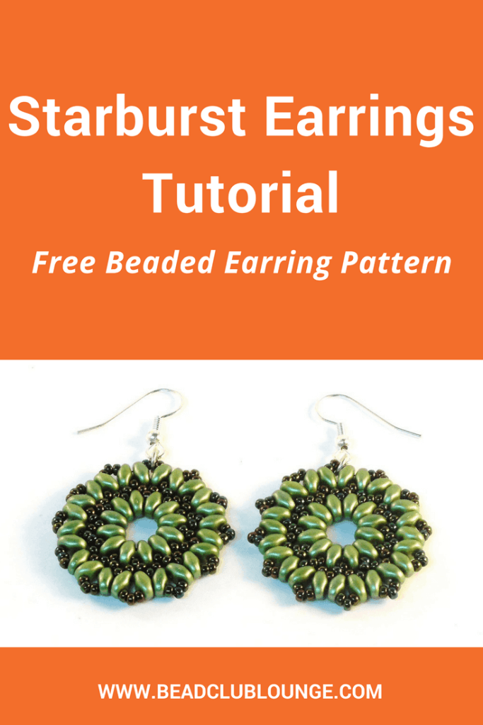 DIY these simple but elegant beaded earrings using SuperDuo beads and seed beads. Click here for an easy step-by-step tutorial that will show you how to make this design called the Starburst Earrings.
