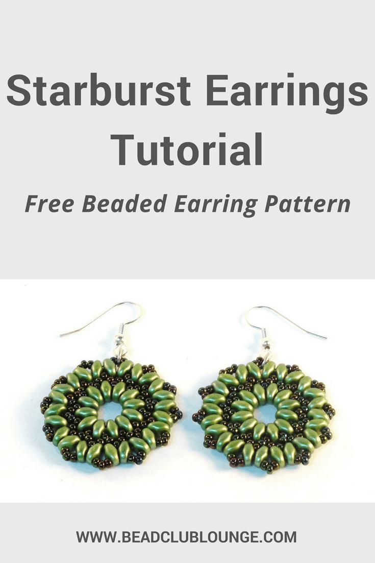 Free And Simple Starburst Earrings Tutorial The Bead Club Lounge
