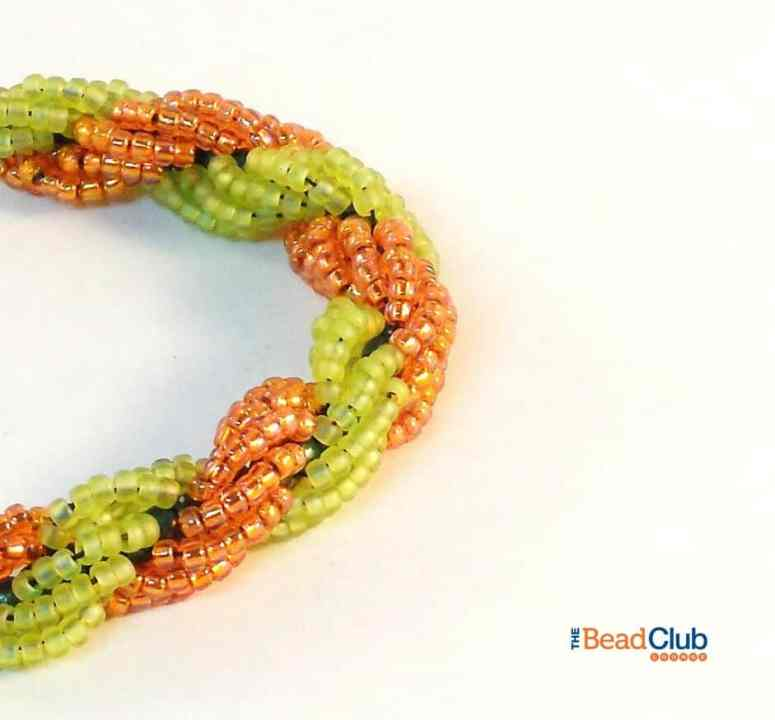 Step 10 of How To Make Double Spiral Rope Jewelry- Free Beading Pattern