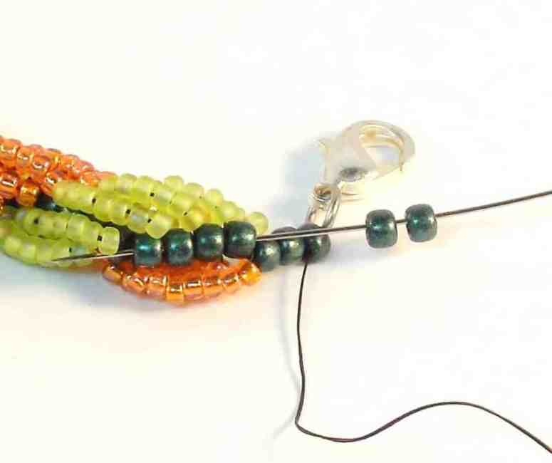 Step 9 of How To Make Double Spiral Rope Jewelry- Free Beading Pattern