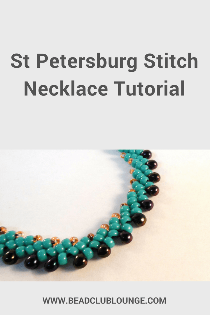 Learn how to make beautiful handmade jewelry using St. Petersburg Stitch. Click here for a free necklace tutorial.