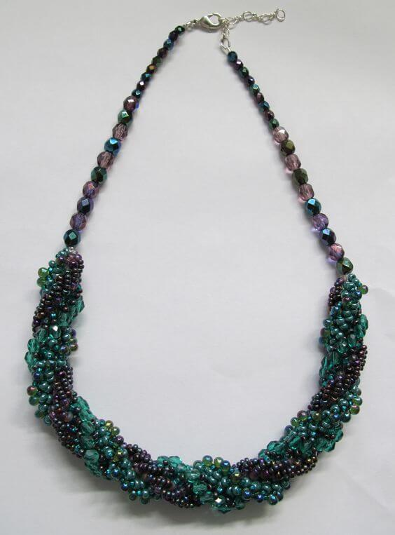 Triple Spiral Necklace called the Sumptuous Spiral