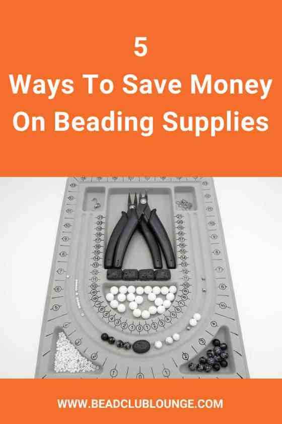 Want to save money on beading supplies? Who doesn't? The beads and tools needed for jewelry-making can add up fast and before you know it, you're spending a lot of money on your hobby. See this list of five ways to save on beads and jewelry-making supplies. #beading #beadwork #jewelrymaking #beadweaving