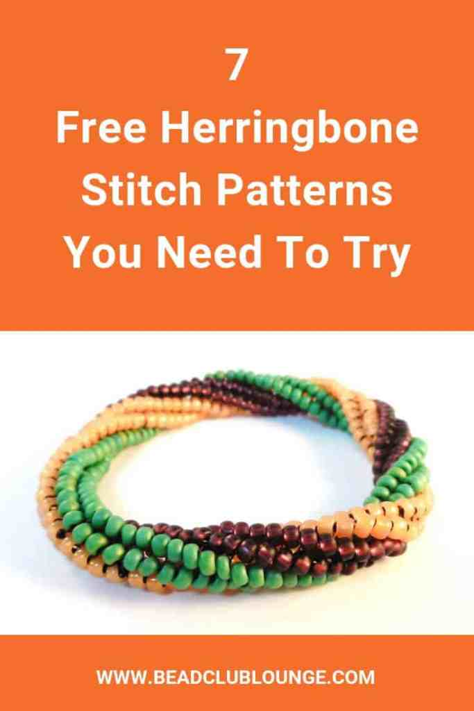 Want free Herringbone Stitch beading tutorials? Here's a list of patterns that includes all of the variations of this bead-weaving technique like Flat, Tubular and even Twisted Tubular Herringbone Stitch that you can use to make beaded rope jewelry and more. Click the link to start jewelry-making with these beadwork project ideas. #beads #beading #beadwork #jewelrymaking #jewelrytutorial #herringbonestitch #thebeadclublounge