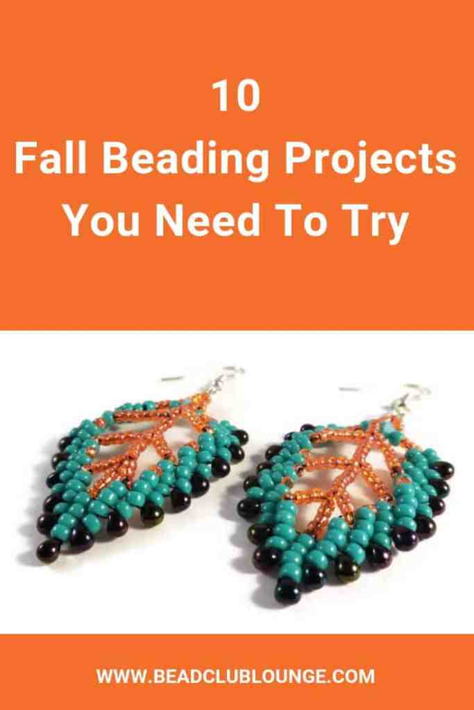 Need beading patterns for Fall? Here's a list of ten bead weaving tutorials perfect for Autumn. You can DIY beaded jewelry using beaded leaf tutorials from Etsy, free beading patterns on YouTube, make beaded pumpkin earrings, beaded owl patterns and more. There are jewelry making tutorials for beginners and all other skill levels. #fall #fallcrafts #falldecor #beading #beadwork #jewelrymaking #earrings #freepattern #tutorials