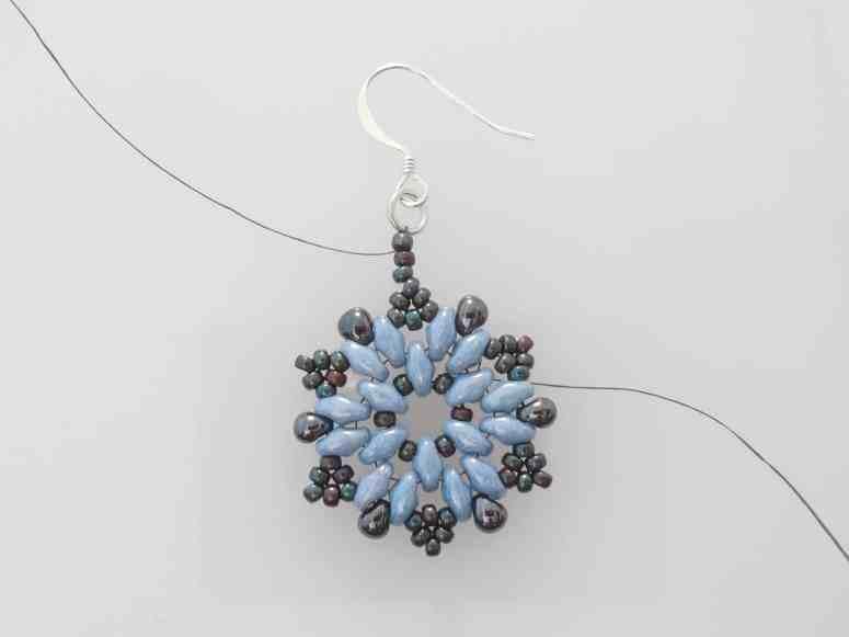 Snowflake Earrings Pattern - Step 10