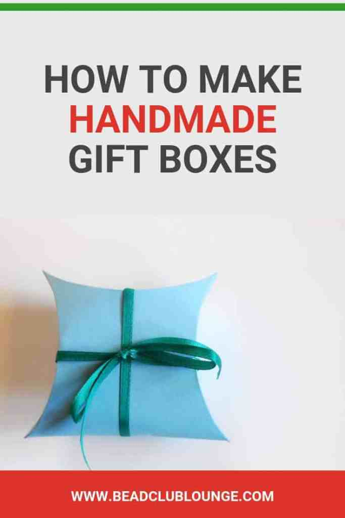 Learn how to make handmade gift boxes with this quick and easy step-by-step tutorial. This DIY gift box tutorial is perfect for the holidays. Package up beaded jewelry in these or other tiny objects for stocking stuffers. #christmas #gifts #giftwrapping #jewelry