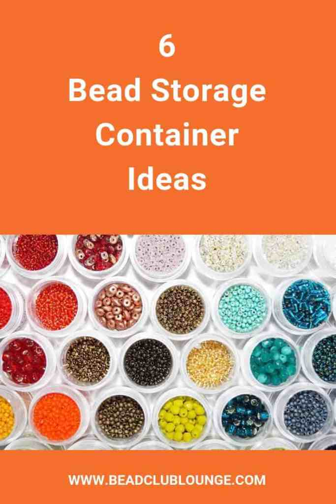 Bead storage containers are essential when you love jewelry making. You accumulate a lot of supplies and you need somewhere to put them all. Learn how to organize your craft space with these bead storage ideas. #beading #jewelrymaking #craftroomorganization #craftroomstorage