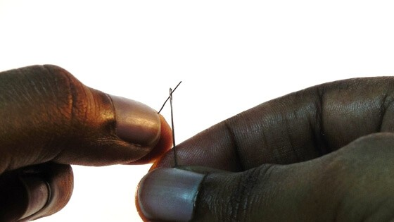 Try this simple beading needle threading trick.