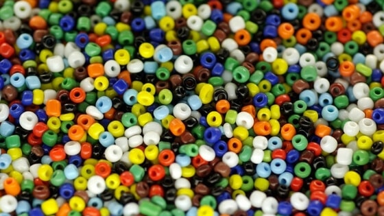 Use bright contrasting colors when you have poor vision to make it easier to bead.