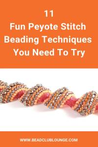 Discover the variations of Peyote Stitch. This bead weaving technique is great because you can make anything from flat strips of beadwork to tubular jewelry designs. #beading #beadweaving #peyotestitch