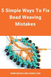 At some point when bead weaving, you're going to make a mistake. It's inevitable because you're human! Discover quick fixes for correcting mistakes when jewelry making. #beading #beadweaving #tbcl
