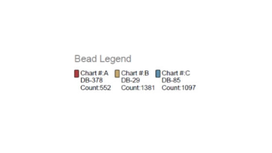 Here's a bead legend included in a peyote stitch instructions.