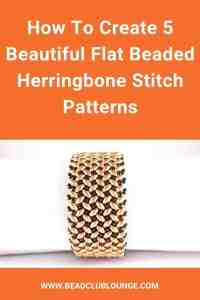 Here's a list of beautiful flat Herringbone Stitch beading tutorials. These beadwork patterns demonstrate how to make beaded necklaces and bracelets using SuperDuo beads, seed beads and more. #herringbonestitch #beading #tbcl
