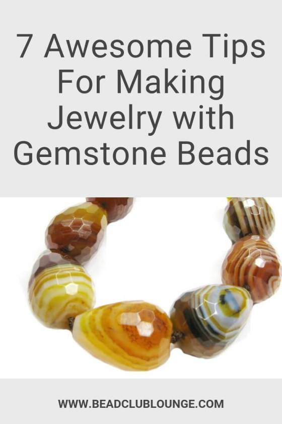 Thinking about how to make handmade jewelry with gemstone beads? These tips and tricks will make your DIY jewelry projects easier and you'll create pieces e.g. necklaces and bracelets that stand the test of time. #gemstonebeads #beading #tbcl