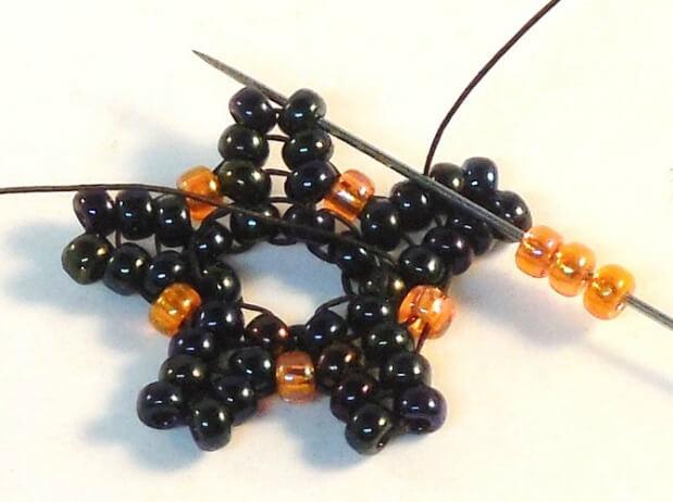 Dark Bloom Earrings Pattern - Step 13