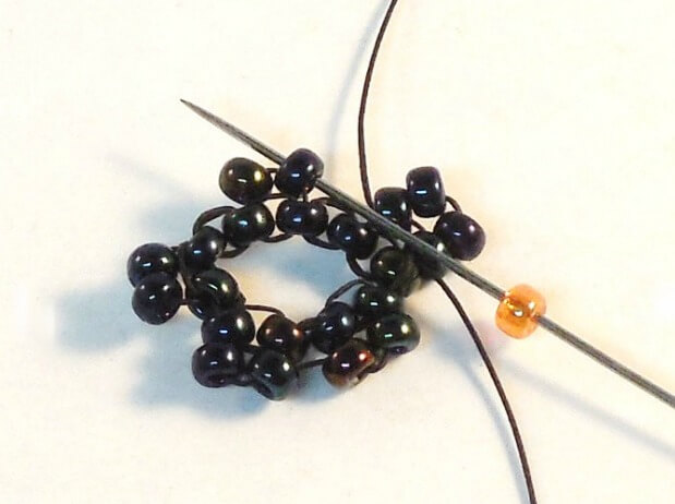 Dark Bloom Earrings Pattern - Step 7