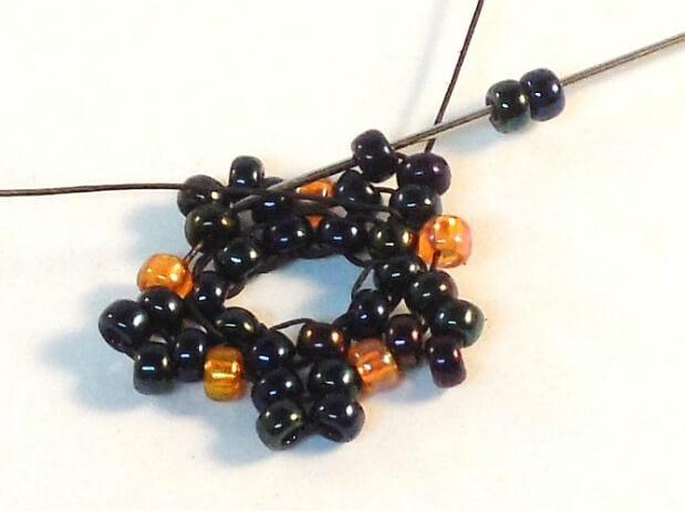 Dark Bloom Earrings Pattern - Step 9