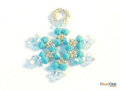 Ice Crystal Snowflake Ornament