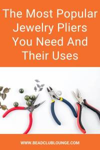 Confused about all the different types of jewelry pliers? Discover the types of pliers and their uses so you know which ones you need. #jewelrypliers #beading #tbcl