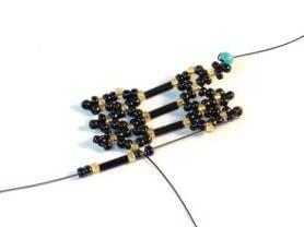 Step 18 - Netting Stitch bracelet pattern
