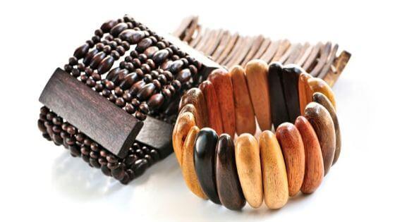 Stretchy wooden bracelets