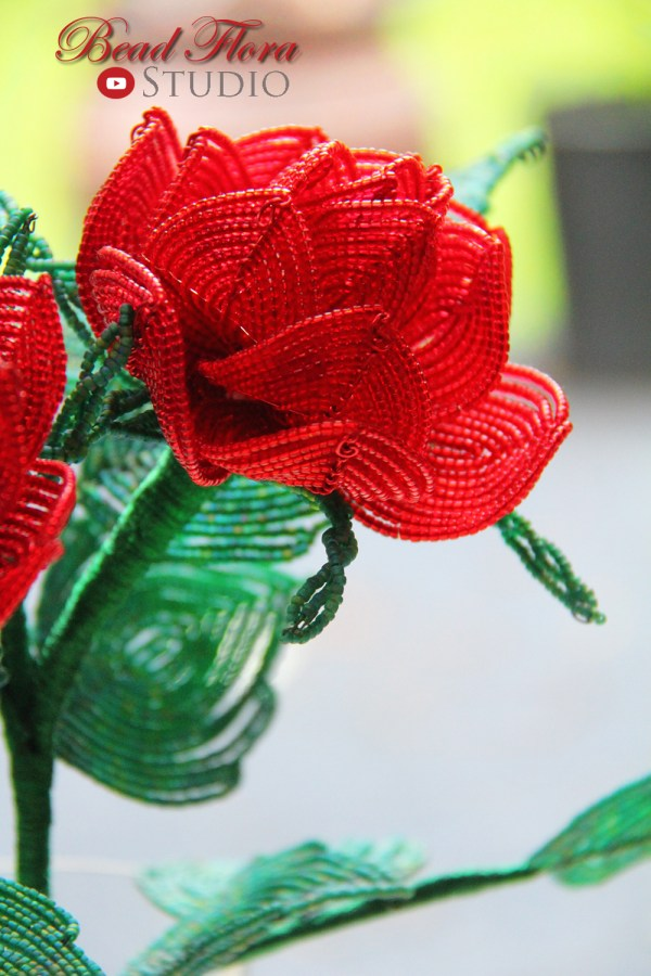 French beaded rose ii