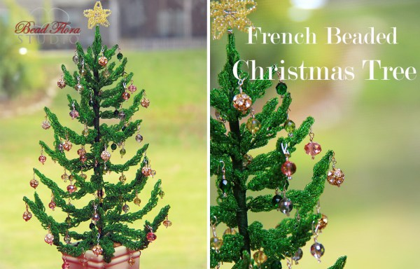 French beaded Christmas tree kit